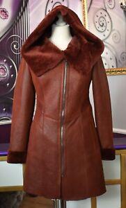 Luxus-Designer-Damen-echter-Lammfellmantel-mit-Kapuze-Gr-34-36-38-NEU
