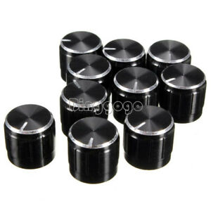 10Stk Volume Control Rotary Knob For 6mm Dia Knurled Shaft Potentiometer Durable