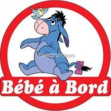 Sticker autocollant enfant Bébé à bord Winnie Bouriquet réf 3570 3570