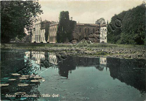 Viaggiata 1953- Oderzo - Colfrancui - Villa Giol (fronte)