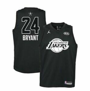 free shipping 29bb2 5182d Nike Kobe Bryant 2018 All Star Swingman Black Jersey Youth Sz XL 9z2b7by3p