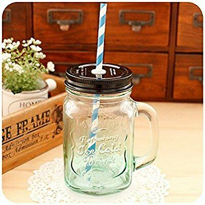 Casa's Multicolor Premium Glass Mason Style Jar Mug