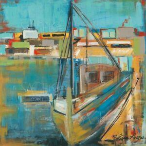 boat taxi melissa lyons art print 12x12 ebay