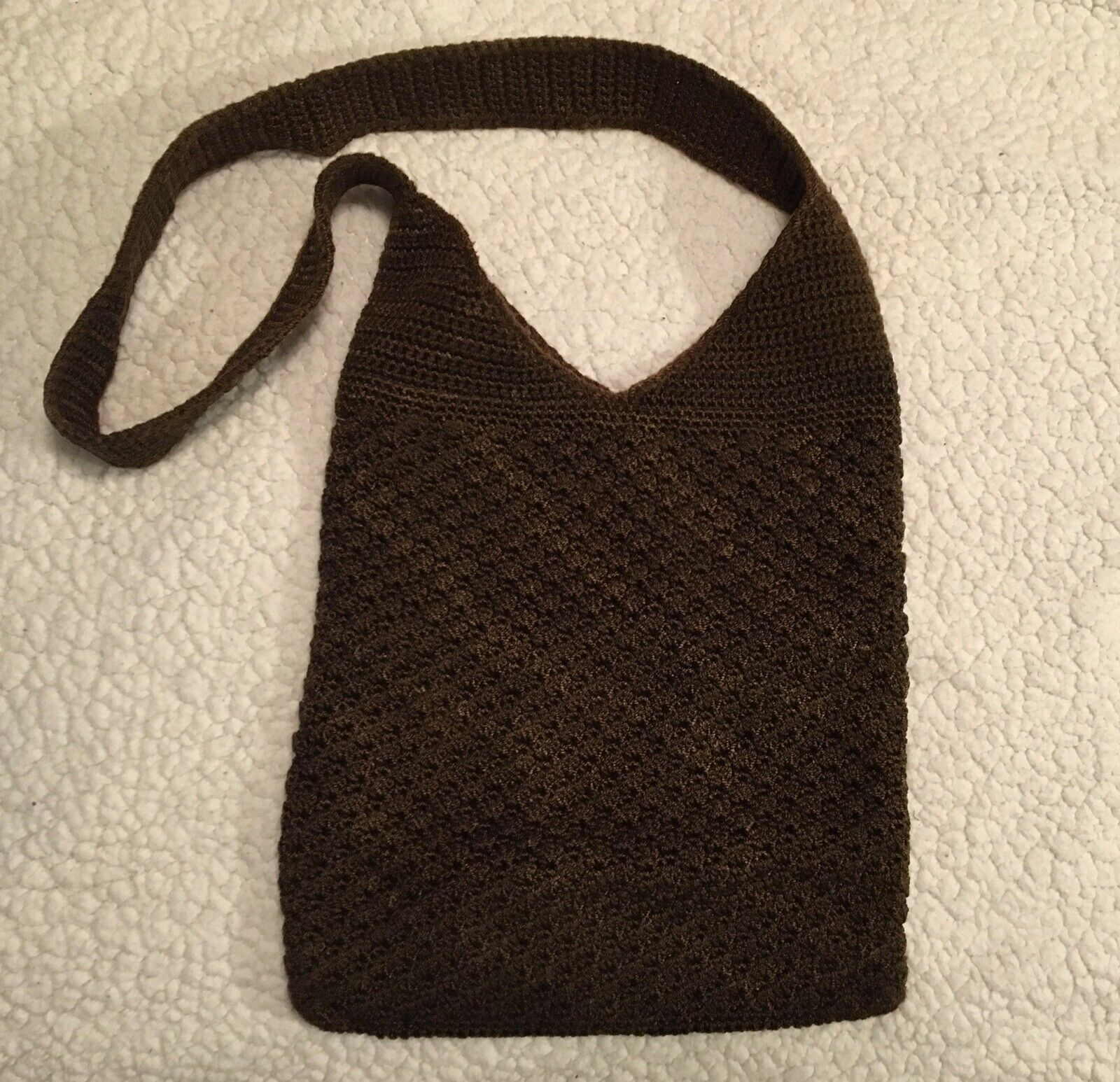 The Sak Crossbody/Shoulder Purse Brown Woven Knit Bag