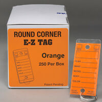 Car Dealer Key Tags   Orange Tags, Self Laminating, Round Corner   Ez407 250p