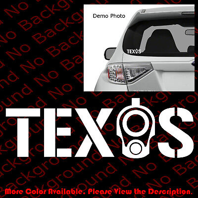 TEXAS COLT 1911 Barrel Sticker Car Windows Decal Vinyl 2A CCW Gun Rights FA042