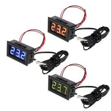 Digital Dc 12v Led Temperature Monitoring Thermometer Meter Gauge With Temp Probe