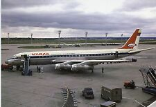 Airliner Postcard VIASA DC8 Paris Orly Airport