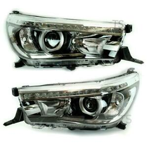 Genuine-Pair-Led-Head-Light-Lamp-Projector-For-Toyota-Hilux-Revo-M70-M80-2015-18