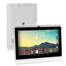"iRulu Tablet PC 8GB 7"" Android 4.4 Quad Core Dual Camera Capacitive Wi-Fi White"