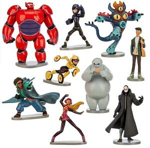 Big Hero 6 Baymax Hiro Playset 9 Figure Cake Topper USA SELLER