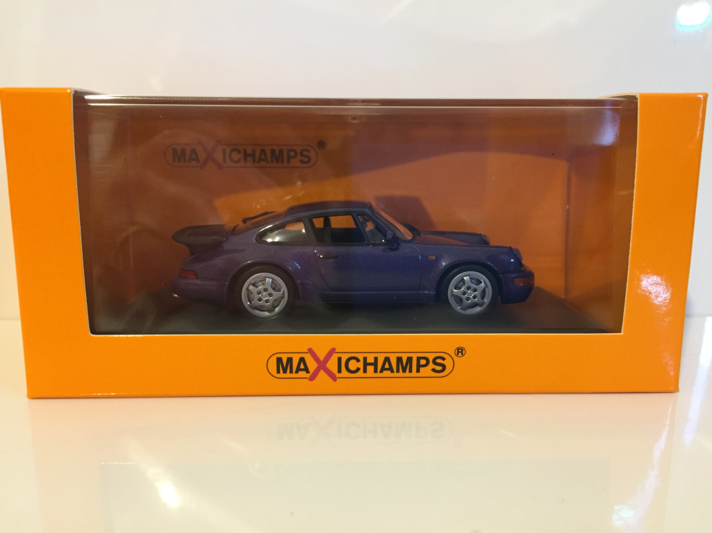Maxichamps 940069100 Porsche 911 Turbo 964 1990 lila metallic 1:43