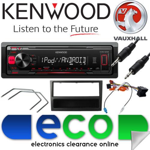 Vauxhall Zafira B KENWOOD auto estéreo Kit Reproductor de Radio Mechless MP3 Aux Negro