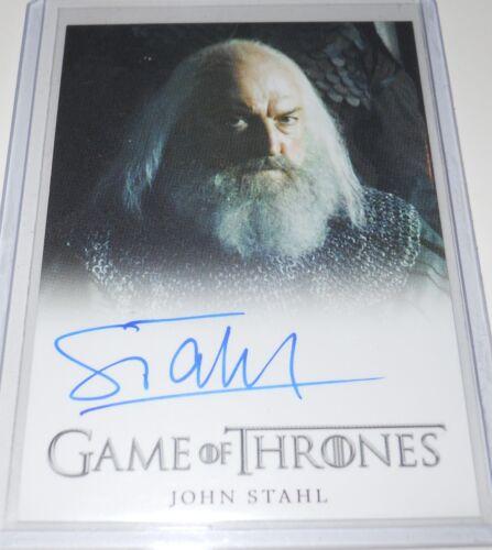 Game of Thrones Autograph Trading Card John Stahl as Rickard Karstark 2013