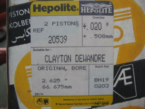 "Rings .020/"" SET Pin HEPOLITE TRUCKS 20539 AIR COMPRESSORS TU-FLO 501 Piston"