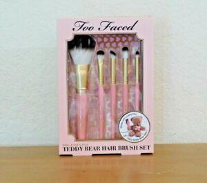 Too-Faced-Pro-Essential-Teddy-Bear-Hair-Brush-Set-NEW-NIB-AUTHENTIC-65-VALUE