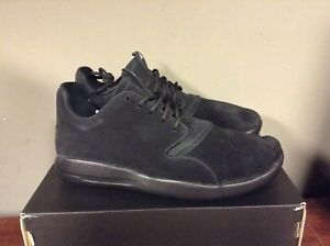 6a54b0cdc167ff Image is loading JORDAN-ECLIPSE-LEATHER-Black-Black-724368-010-NEW-