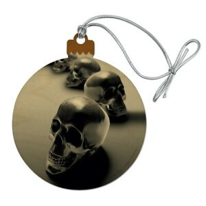 Metal Skulls Skeletons Wood Christmas Tree Holiday ...
