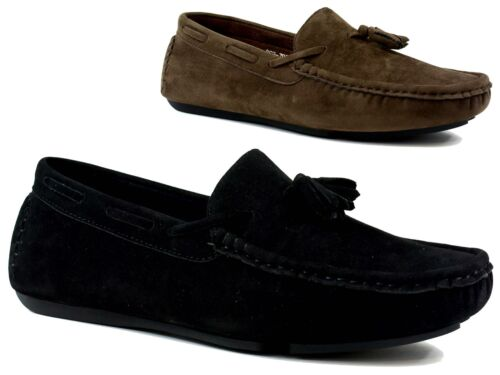 Boys New Tassel Slip On Casual//Formal Stitched Dressy Shoes UK Size 13-6