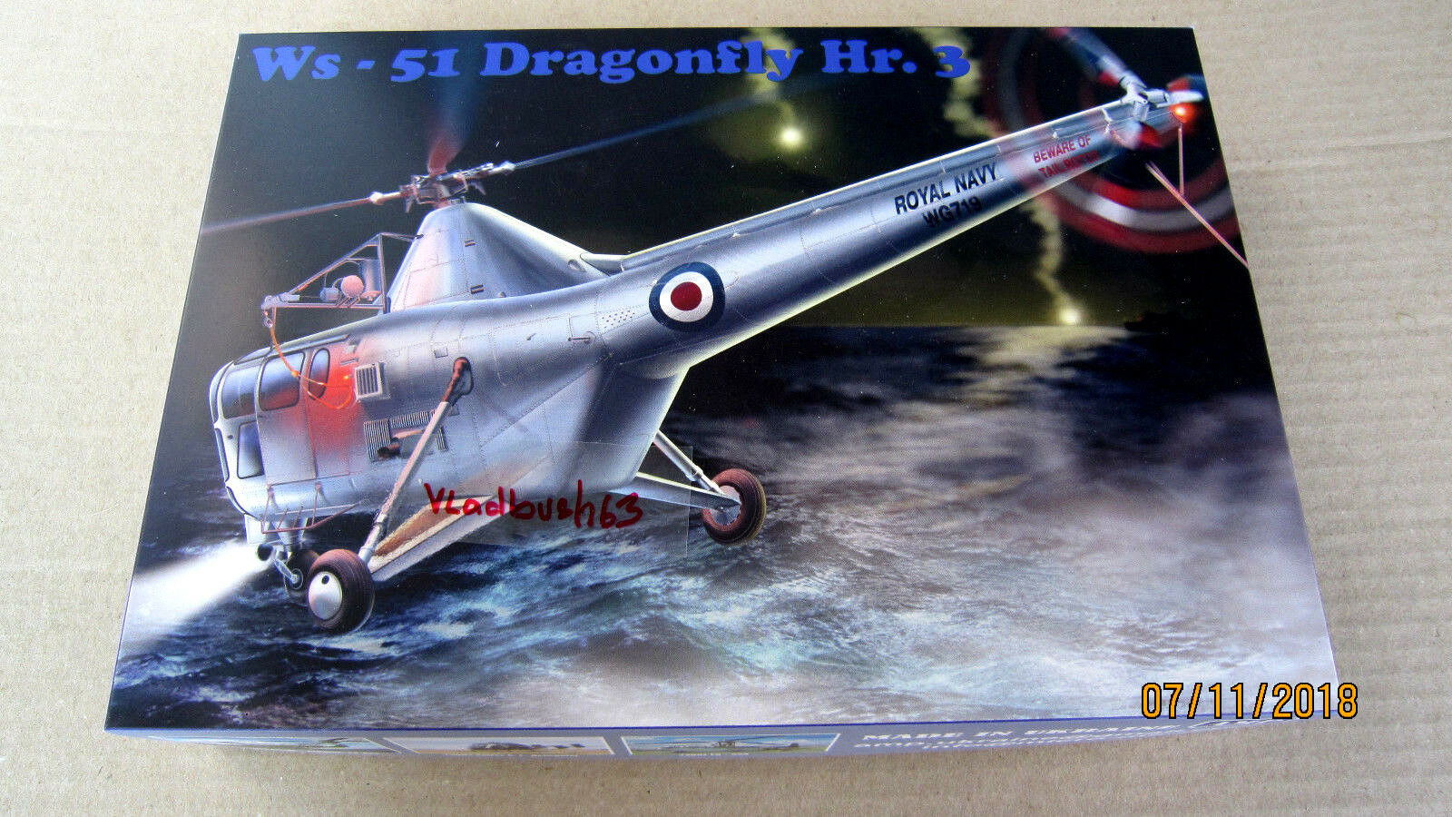 Westland WS-51 Dragonfly HR.3 Helicopter (PE resin film mask)  1 48 AMP