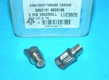 2 Pcs INGERSOLL 10mm CHIP SURFER CARBIDE ROUGHING TIPS (IN2005 / T06)