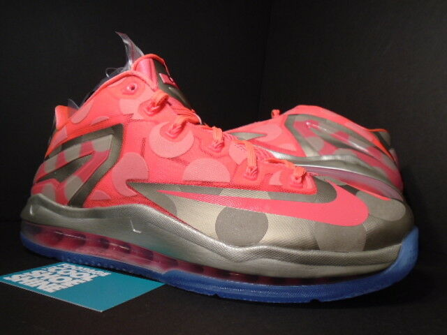 Nike AIR MAX MAISON DU LEBRON XI 11 LOW COLLECTION ZINC GOLD PUNCH PINK DOTS 8 Special limited time