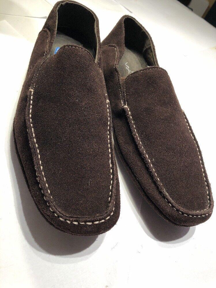 STUDIO VIA SPIGA Mens Suede Driving Moccasins Size 9.5   42 Brown Slip On