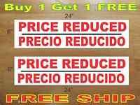 Price Reduced Precio Reducido 6x24 Real Estate Rider Signs Buy 1 Get 1 Free