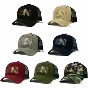 USA-American-Flag-hat-Flag-Patched-Pique-Snapback-Mesh-Tactical-Baseball-cap