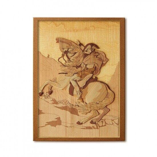 Japanese Wood Collage 3D-Art Handmade Kit David Napoleon Craft 30x21cm