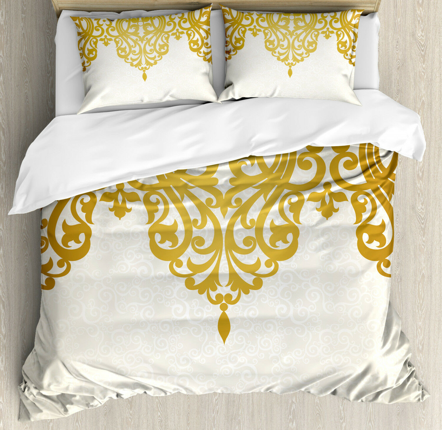 Victorian Duvet Cover Set with Pillow Shams Medieval Baroque Art Print