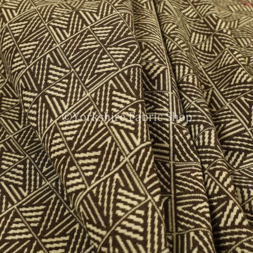 New Semi Plain Pattern Chenille Textured Brown Colour Curtain Upholstery Fabric