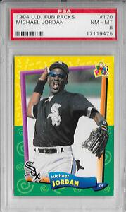 Details About Michael Jordan 1994 Upper Deck Fun Packs Chicago White Sox Baseball Card 170