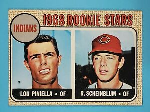 1968 Topps Richie Scheinblum Lou Piniella Indians #16 VG+ ⚾