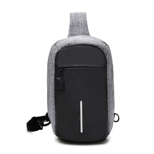 Chest Shoulder Bag Anti Theft Buckle Design Women Men Waterproof Crossbody Bags