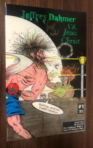 Boneyard JEFFREY DAHMER VS JESUS CHRIST #1 Green Foil SIGNED Limited Edition