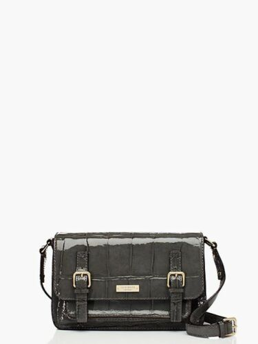 Kate Spade New York Knightsbridge Scout Croco Graphite Leather Crossbody