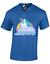 Siempre-se-le-Hombre-Camiseta-la-inteligencia-Divertido-Rock-Unicornio-central-Color