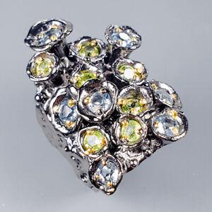 Vintage-Natural-Blue-Topaz-925-Sterling-Silver-Ring-Size-6-5-R119617