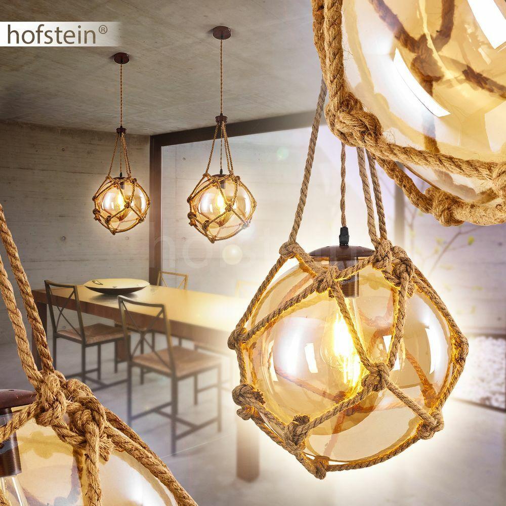 Retro Hänge Lampen Glas Ess Wohn Schlaf Zimmer Raum Beleuchtung Pendel Leuchten