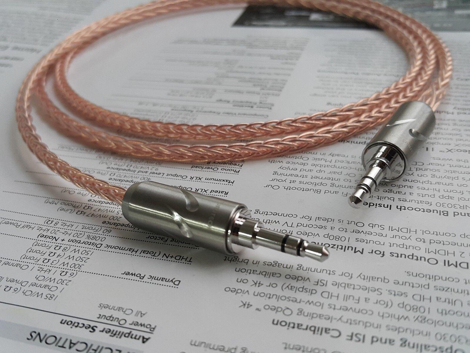 3feet 8n 8n 8n Occ Cobre 3,5 mm Macho A Macho Cable de audio de gama alta de alta fidelidad  precio al por mayor