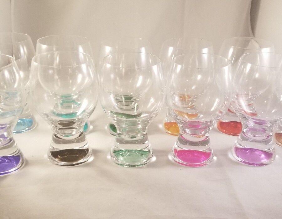 High-Ball Assorted Couleurs verres Set de 11 potable Verres chaque couleur différente