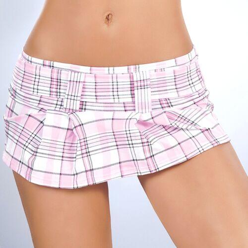 New 1005 Pink Plaid Scrunch Mini Booty Boy shorts Bikini panties Rave S M L