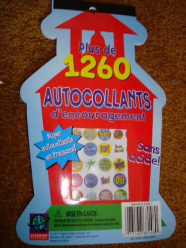 AUTOCOLLANTS 1260 STICKERS STARS AND SUPER 2 PACKAGES