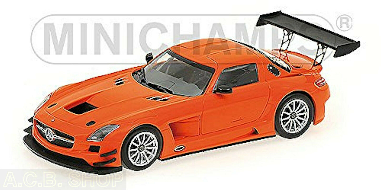 Mercedes Benz Sls amg gt3 Street Orange 1 43 Minichamps Ed. 528 PC.