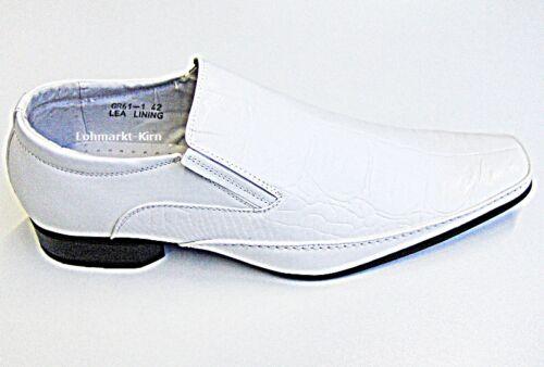 Herren weiße Hochzeitschuhe Herrenschuhe Businessschuhe Schuhe Krokomuster GR61