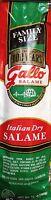 13oz Gallo Italian Dry Salame Chub 1 Selling Salami Family Size - Usa Free Ship
