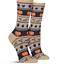 Thanksgiving Socks Fair Isle Fall Icons Hot Sox Crew Novelty Shoe Sz 4-10 RARE