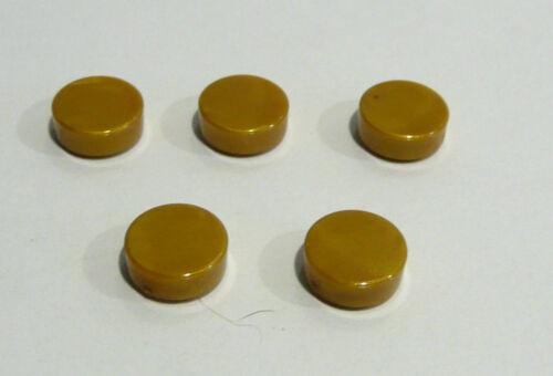 5 X LEGO ® 98138 Piastrelle 1x1 TONDO Pearl Colori Oro come in foto nuovi.