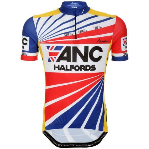 ANC Halfords Unisex Retro Cycling Jersey Short Sleeves Silicon Grippers 3//4 Zip